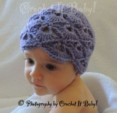 FannedVStitch Hat Pattern  4 Sizes by CrochetItBaby on Etsy, $4.00