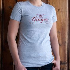 Hail Ginger Tee | Clever Ginger | Designed by Redhead Design Studio #script #screenprinted