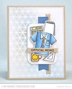 Get Down to Business Stamp Set and Die-namics, Inside & Out Stitched Rounded Rectangle STAX Die-namics, Blueprints 13 Die-namics, Blueprints 27 Die-namics - Debbie Olson  #mftstamps