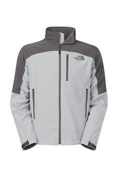 The North Face Men's Shellrock Jacket. Keep driving forward during fast-moving activities and hikes in this lightweight, hybrid jacket that's designed with an athletic cut and breathable panels at either side of the wind-resistant TNF™ Apex Universal core. Velcro® tabbed cuffs are easy to adjust over mid layers. A fleece backing and lined collar offer next-to-skin comfort.