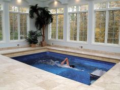 I'd LOVE to have a pool to work out in - even nearby - but it'd be amazing to have one at home!