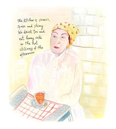 Maira Kalman - The Principles of Uncertainty - The New York Times - Times Select Paper Illustration, Graphic Illustration, Kitty Carlisle, Maira Kalman, New Yorker Covers, Popular Books, Women Lifestyle, Love Me Quotes, Heaven On Earth
