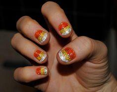 DIY Halloween Nails : DIY Halloween Nail Art Candy Corn