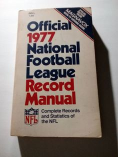 Official 1977 National Football League Record Manual NFL Paperback book vintage 70s by Fchoicevintage on Etsy