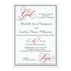 Religious wedding invitation wording samples christian wedding elegant god is love christian wedding invitation filmwisefo