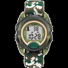 Timex Kids Digital Nylon Strap Watch - Camoflauge Watch Belt, Countdown Timer, Womens Fashion Stores, Online Shopping Stores, Digital Watch, Chronograph, Fashion Accessories, Watches, Night Light