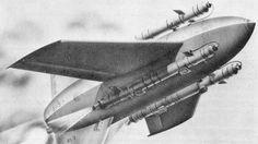 German Land to air Enzian missile (Flak rakete Enzian).