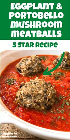How to make Eggplant Portobello Meatballs everyone will love. The eggplant recipe that won my family over for good. Easy, healthy and oh so tasty. #plantbased #meatlessMonday #eggplant #mushroom #meatlessMeatballs #vegan #familyDinner #Healthy Eggplant Mushroom Recipe, Mushroom Recipes, Vegetable Recipes, Vegetarian Recipes, Healthy Recipes, Easy Recipes, Diet Recipes, Spaghetti Squash And Meatballs, Eggplant Meatballs