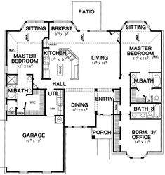 Best Plan 15705Ge Dual Master Bedrooms House Ideas Cottage 400 x 300