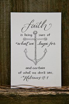 Hand-Lettered Scripture Print - Hebrews 11:1 - Bella Scriptura Collection from Paperglaze Calligraphy