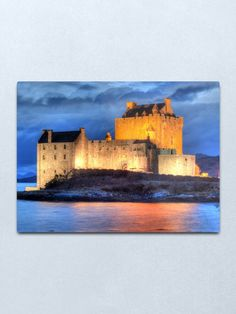 """""""Eilean Donan Castle HDR , January Metal Print by goldyart Portrait Photography, Travel Photography, Wedding Photography, Eilean Donan, Scotland Castles, Travel Oklahoma, Medieval Castle, January 2016, Death Valley"""