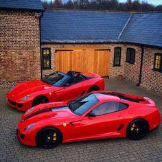 Ferrari 599 GTO and Aperta.