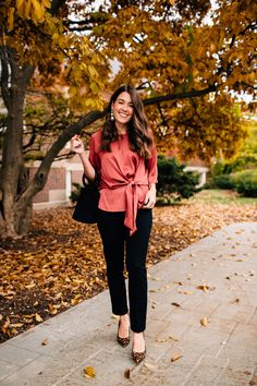 8ced2d03f1ab I love this simple and classic casual holiday outfit idea for women. The  top is just fancy enough for a nice holiday party, but the outfit is still  ...