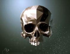 Half-Polygonal Skull by Jack-Kaiser
