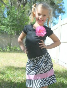 Children's ClothingSkirtsZebra and Pink by girliebowsgalore, $18.00