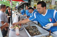 Little Italy Bronx New York - Bing Images Little Italy New York, Raw Oysters, New York City, Nyc, Clams, Bing Images, Fish, New York, Sea Shells