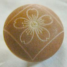 S. American renewable rainforest product, laser etched Asian cherry blossom vegetable ivory button