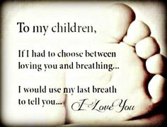 The love of a mother for her child does not lessen over time.