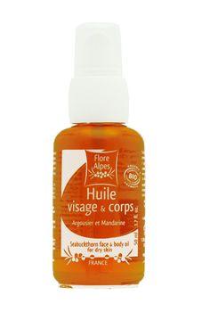 Découvrez la douceur de l'HUILE VISAGE & CORPS BIO à l'argousier. Cette huile hydrate et raffermit la peau. Vous ne résisterez pas à son délicieux parfum mandarine.