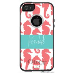 LOVE...Personalized OtterBox® Preppy Swimming Seahorses iPhone 5 case