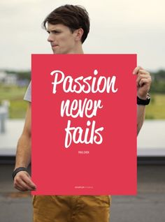"Poster ""Passion Never Fails"" Startup Vitamins by Startup Vitamins on The Bazaar"