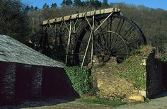OLD TIN MINING WORKINGS, WATERWHEEL, MORWELLHAM - Devon.  We went down the George and Charlotte Copper mines.