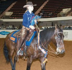 ❦ National Reined Cow Horse Association. Congratulate the 2013 NRCHA $5,000 Non Pro Limited World Champion, Addison Fjelstad! The 16-year-old Scarville, Iowa, cowgirl scored a 439.5 (216.5 rein/223 cow) aboard Mini Mes Mercedes (Mini Me Merada x Spooks Hickory) to win the title in Fort Worth, Texas, today.
