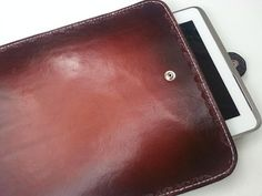 Hand Tooled Leather Tablet Case for iPad Samsung by PoochieBaby, $65.00