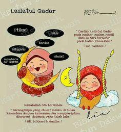 Mslam Lailatul Qadar Muslim Quotes, Islamic Quotes, Ramadan Day, Islamic Cartoon, Anime Muslim, Learn Islam, Simple Quotes, Islam Religion, Islamic Messages