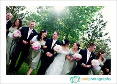fun wedding party pose lionscrest manor photographer