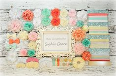 DIY Headband Making Kit - First Birthday Party - Baby Shower Headband Station - MAKES 25+ HEADBANDS!!  Light Pink, Mint, Coral, White, Ivory by LuxeSupplyCo on Etsy (null)