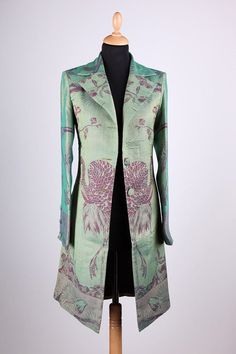 Cashmere Grace Coat in Dragonfly Green van ShibumiStyle op Etsy
