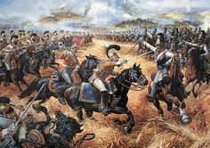 "Counterattack Saxon Regiment Cuirassier Guards Against Gare du Cor Astrakhan cuirassier regiment in the battle of Borodino"""
