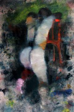 N°2 RENVERSE - Peinture,  97x146 cm ©2012 par DOV MELLOUL -                        Expressionnisme