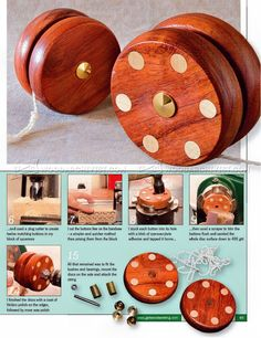 Woodturning Yo-Yo - Wooden Toy Plans