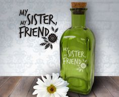 My Sister My Friend Flowers 17oz Laser Etched by HumbleElephant