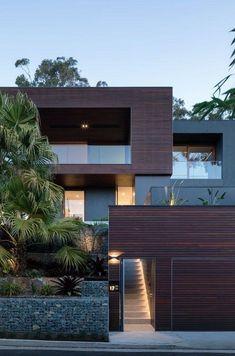 32 Ideas House Modern Exterior Design Facades For 2019 Style At Home, Modern House Design, Modern Interior Design, Interior Ideas, Contemporary Interior, Contemporary Gardens, Garden Modern, Bar Interior, Rustic Contemporary