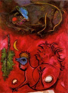 Chagall, Il canto del gallo Anno: 1944 Proprietà: Collezione Katherine Smith Miller e Lance Smith