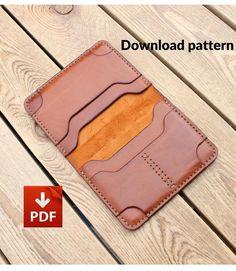 Leather Wallet Pattern, Leather Card Wallet, Leather Bifold Wallet, Leather Keychain, Passport Wallet, Leather Working Patterns, Minimalist Wallet, Small Wallet, Long Wallet