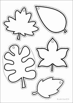 More than 20 free printable fall leaf template pages to