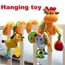 Venta caliente encantadora infantil juguete cochecito de bebé cuna gira alrededor de la cama colgante juguetes educativos Desarrollo Mordedor Sonajero Móvil(China (Mainland))