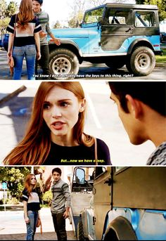 Teen Wolf 6x05 - Lydia saving the jeep :')