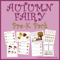 Autumn Fairy Pre K Pack
