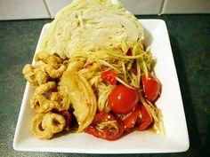 How to make tum mark hoong - Lao spicy green papaya salad recipe #8