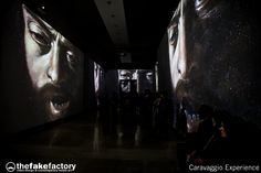 CARAVAGGIO EXPERIENCE - immersive videoart experience designed by videoartist STEFANO FAKE and created at THE FAKE FACTORY studio in Florence, Italy.