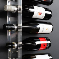 Gus* Modern Acrylic Wine Rack - The Acrylic Wine Rack provides an elegant solution to wine storage. The clear, minimalist design showcases the organic shapes of the bottles themselves, creating . Wine Racks For Sale, Diy Wine Racks, Wine Table, Wine Rack Wall, Acrylic Panels, Rack Design, Wine Bottle Crafts, Showcase Design, Wine Storage