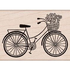 Image Detail for - StickyTiger Craft Supplies Bicycle Wood Stamp