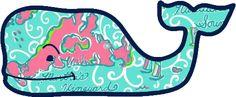 Vineyard Vines Lilly Pulitzer Cape Cod / Martha's Vineyard / Nantucket Print Whale