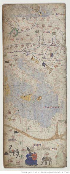Italy, Mediterranean, Catalan Atlas VILADESTES executed around 1375.