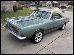 1968 Plymouth Barracuda, great track times with the 340 engine.